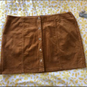 Forever 21 Plus Size  Brown Corduroy Skirt
